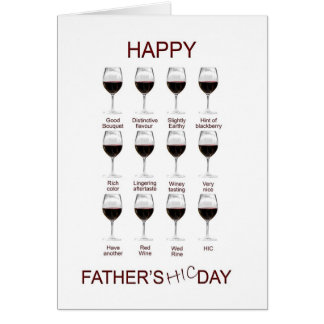 Wine tasting funny Father s Day card