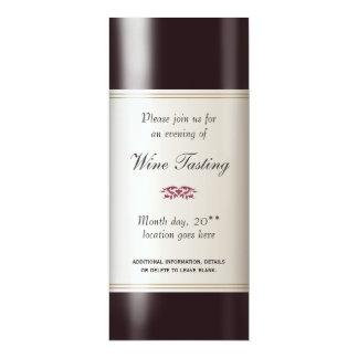 """Wine Tasting  Invitation 4"""" X 9.25"""" Invitation Card"""