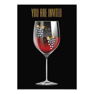 Wine Tasting Invitation - Wine Glass Rhinestones