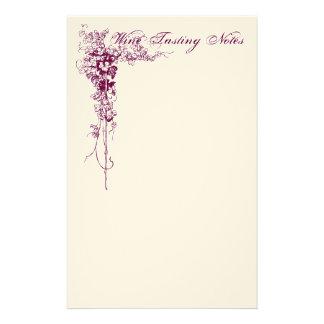 Wine Tasting Notes Stationery Design