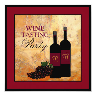 Wine Tasting Party 13 Cm X 13 Cm Square Invitation Card