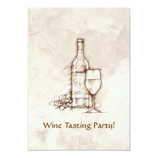 Wine Tasting Party 13 Cm X 18 Cm Invitation Card