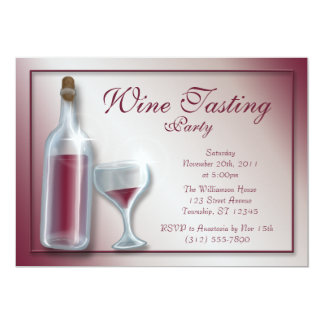 Wine Tasting Party ~ Burgundy Invitations