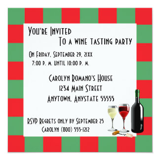 Wine Tasting Party Card