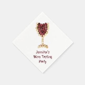 Wine Tasting Party Custom Napkins Disposable Napkin