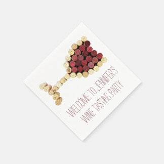 Wine Tasting Party Custom Napkins Disposable Serviettes