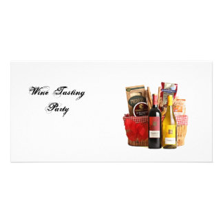 Wine Tasting Party Customized Photo Card