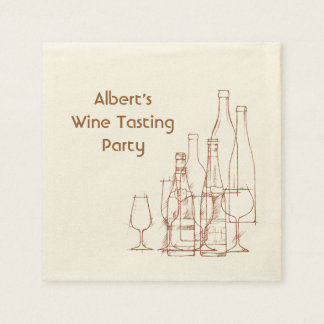 Wine Tasting Party Disposable Napkins