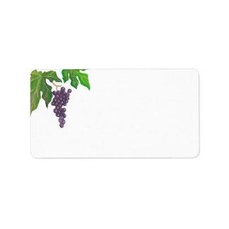 Wine Tasting Party Grapes Blank Address Address Label