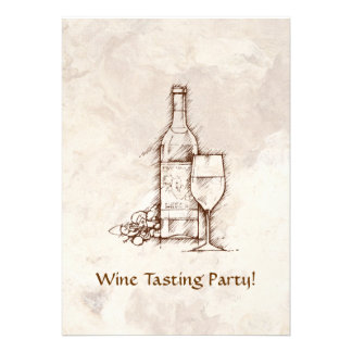 Wine Tasting Party Personalized Invitations