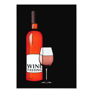 "wine tasting party invitation 5"" x 7"" invitation card"