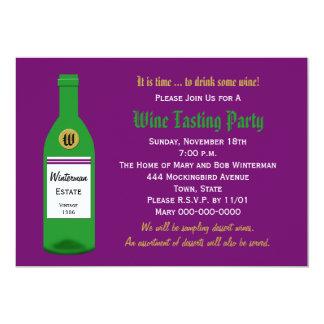 Wine Tasting Party Invitation Purple