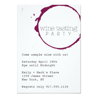 Wine Tasting Party Invite