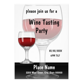 Wine Tasting Party Red Invitation