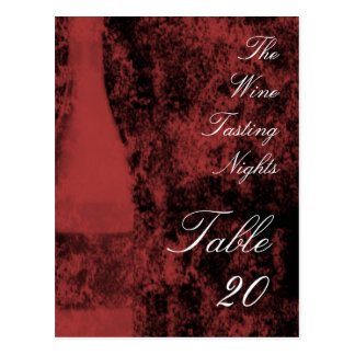 Wine tasting party Table Number Postcard
