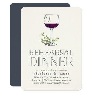 Wine Tasting Rehearsal Dinner Invitation