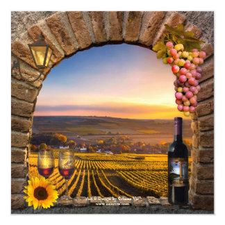 Wine Tasting Retirement Party Invitation
