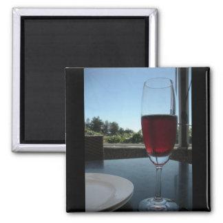 Wine Tasting Square Magnet