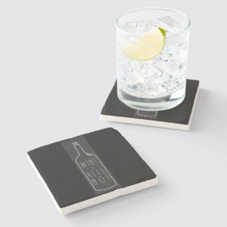 Wine the hell not coaster stone beverage coaster
