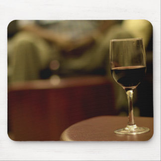 Wine Themed, A Glass Of Red Wine Sits On A Small T Mouse Pad