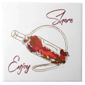 Wine themed decorative tile for home or business