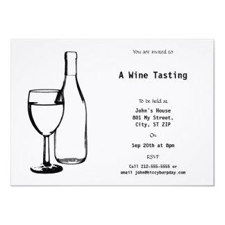 Wine Themed Event 11 Cm X 16 Cm Invitation Card