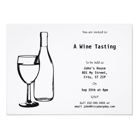 Wine Themed Event Card