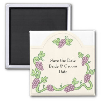Wine Themed Save the Date Magnets