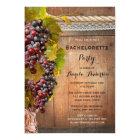 Wine Themed Vineyard Bachelorette Party Invitation