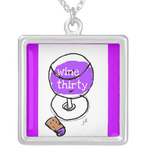 WINE THIRTY BRIGHT AND BOLD WATERCOLOR NECKLACE