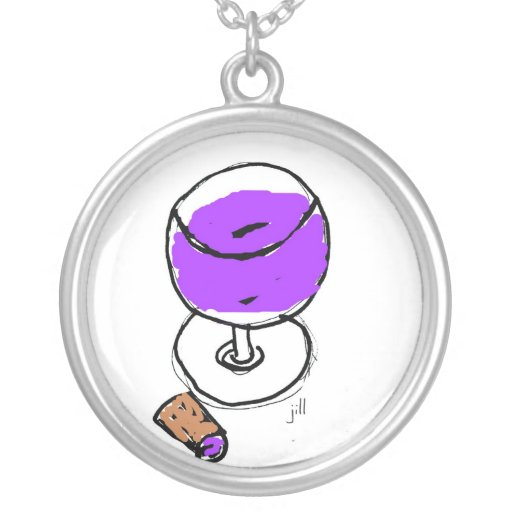 WINE THIRTY BRIGHT AND BOLD WATERCOLOR PENDANT