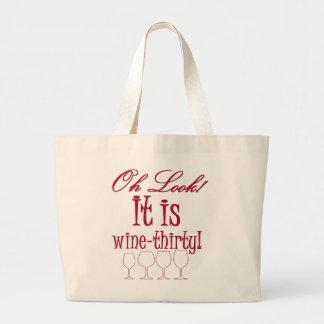 wine-thirty jumbo tote bag