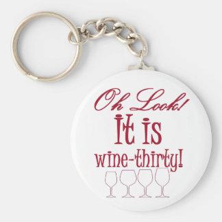 wine-thirty keychains