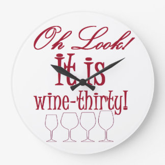 wine-thirty large clock