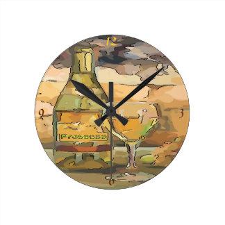 Wine Time, Prosecco Round Clock