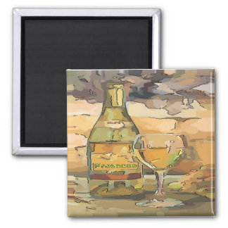 Wine Time, Prosecco Square Magnet