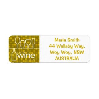 Wine Time Return Address Label