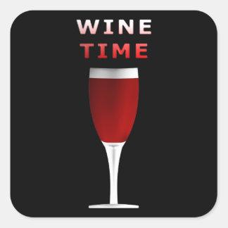 Wine Time Square Sticker