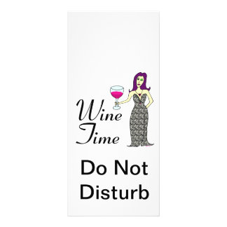 """""""Wine Time"""" WineWomenDesigns.com Promotional Customised Rack Card"""