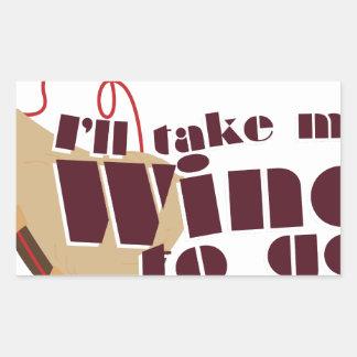 Wine to Go Rectangular Sticker
