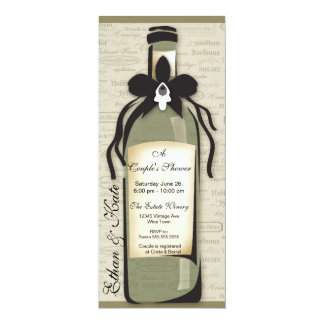 wine bottle invitations announcements. Black Bedroom Furniture Sets. Home Design Ideas