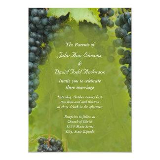 Wine Vineyard Theme Wedding Card