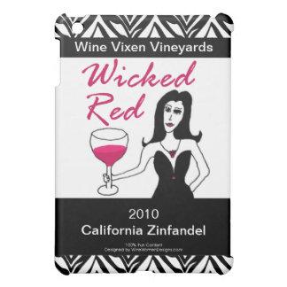 Wine Vixen Wicked Red Faux Wine Label Cover For The iPad Mini