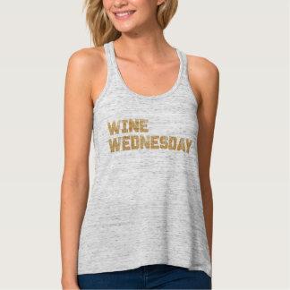 Wine Wednesday Humor Glitter Tank