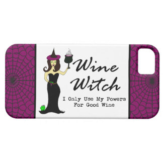"""Wine Witch """"I Only Use My Powers For Good Wine"""" iPhone 5 Cover"""
