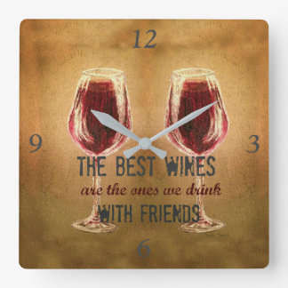 Wine with Friends Clock
