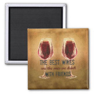 Wine with Friends Magnet
