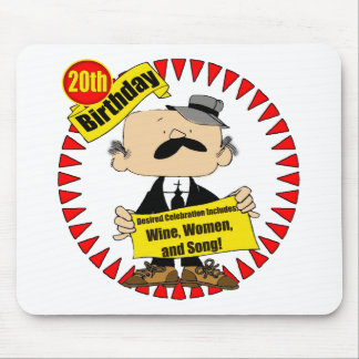 Wine Women Song 20th Birthday Gifts Mouse Pad
