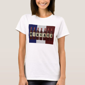 Wineaux Wine Bottles French Flag T-Shirt
