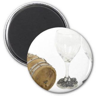 WineBarrelGlasses110709 copy 6 Cm Round Magnet
